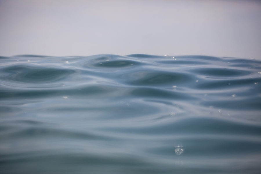 """Blue Water"" Tranquil Water Art by EDA Surf."