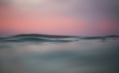 """Pink Water"" Tranquil Art by EDA Surf"