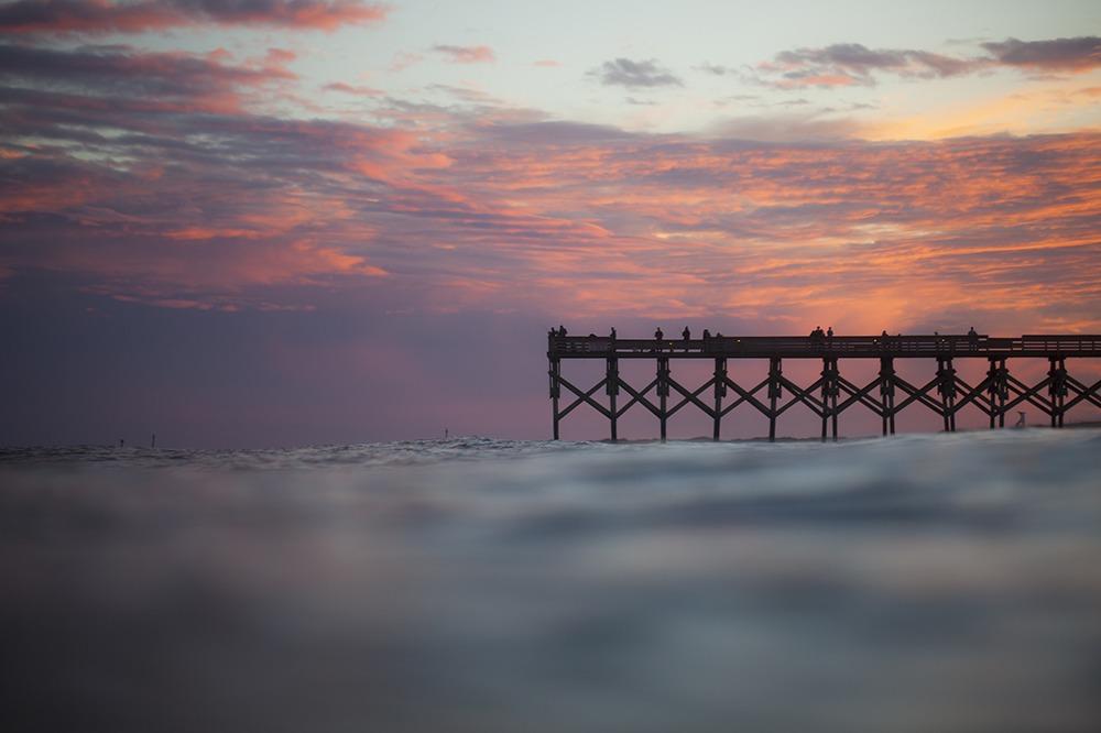 """""""Pink Skies"""" Coastal Art by EDA Surf"""