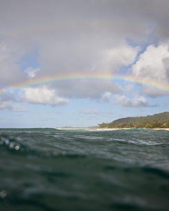 """""""Rainbows Of Pipeline"""" Coastal Art by EDA Surf"""