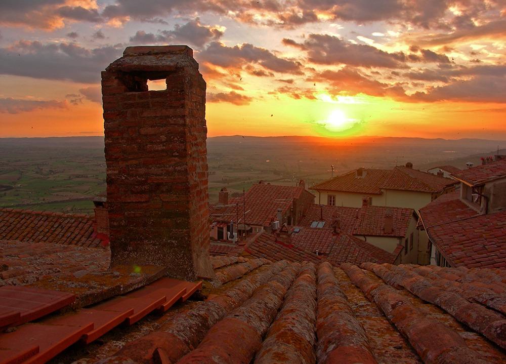 """Tuscan Sunset"" Sunset Art by EDA Surf"