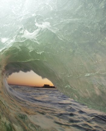 """Afternoon Tube"" Surf Art"