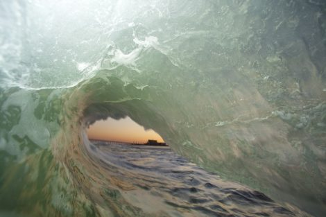 """Afternoon Tube"" Surf Art"