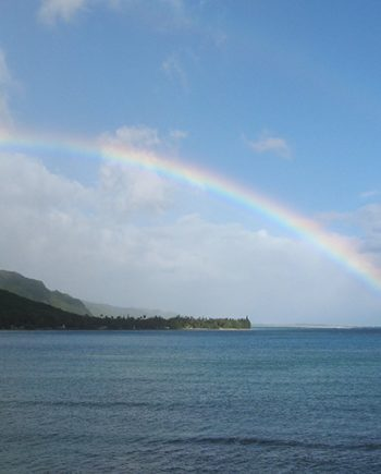"""Hawaiian Rainbow"" Coastal Art by EDA Surf"