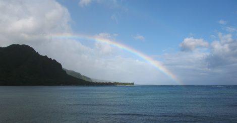"""""""Hawaiian Rainbow"""" Coastal Art by EDA Surf"""