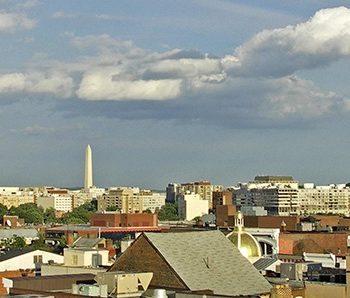 """Washington Skyline"" City Scape Art"