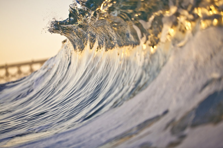 gold crystal surf art