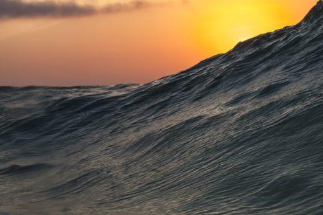 morning sea swell surf art