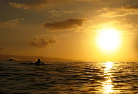 """""""Sunset Gold"""" Tranquil Water Art by EDA Surf"""