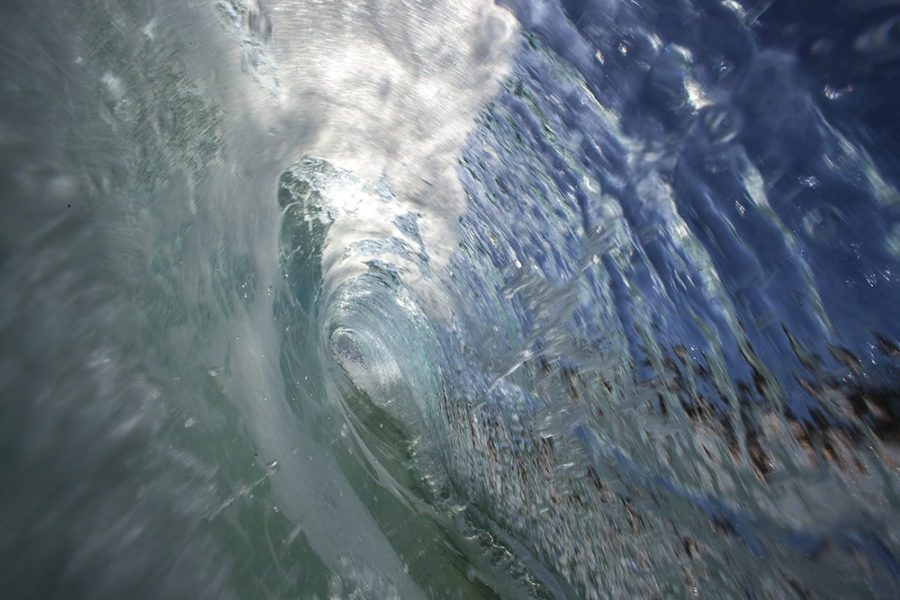 """Blue Tube"" Surf Art by EDA Surf"