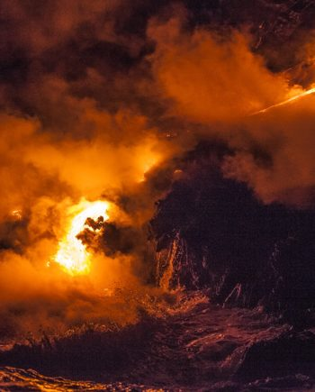 lava flow volcano art