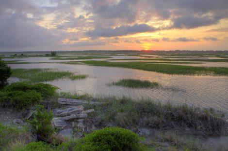 sunset mars coastal art