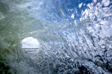 circle sea surf art