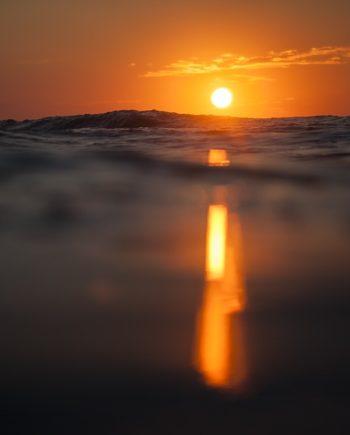 """Morning Beams"" Sunset Surf Art"