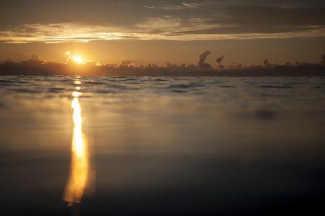 beams of light tranquil water art