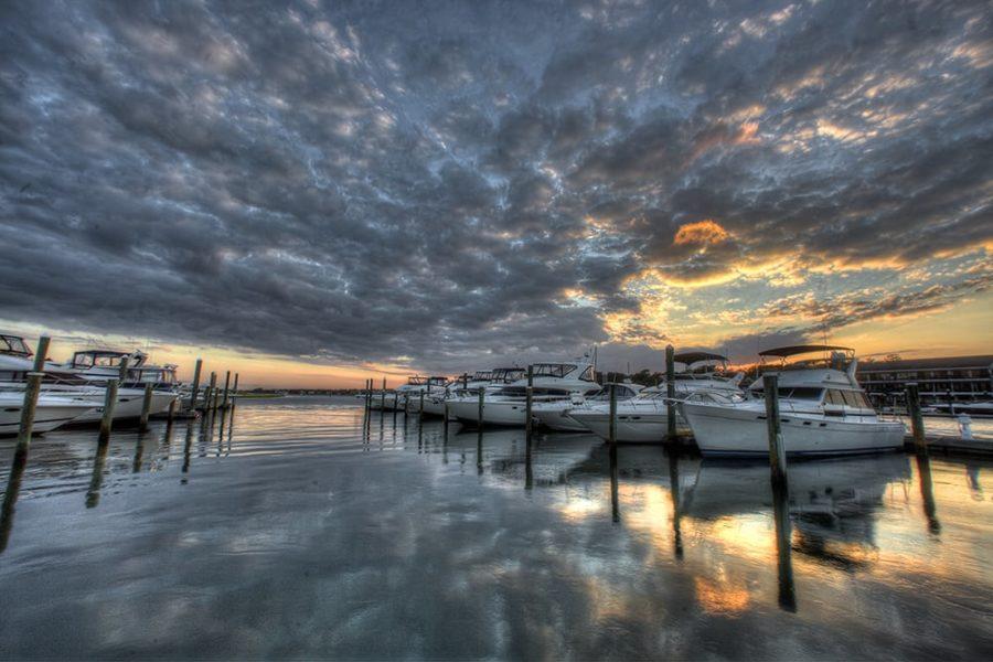 sunset slips boat marina photography art