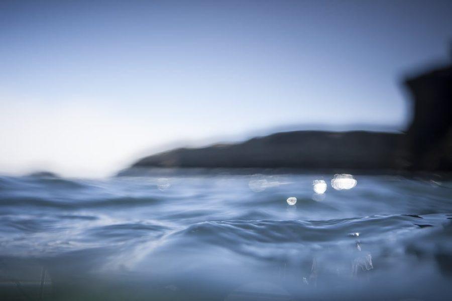 """The Steamer Blue Bliss"" Santa Cruz Water Art."