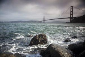"San Francisco Bay Water Art prints titled ""Bay Rocks"""
