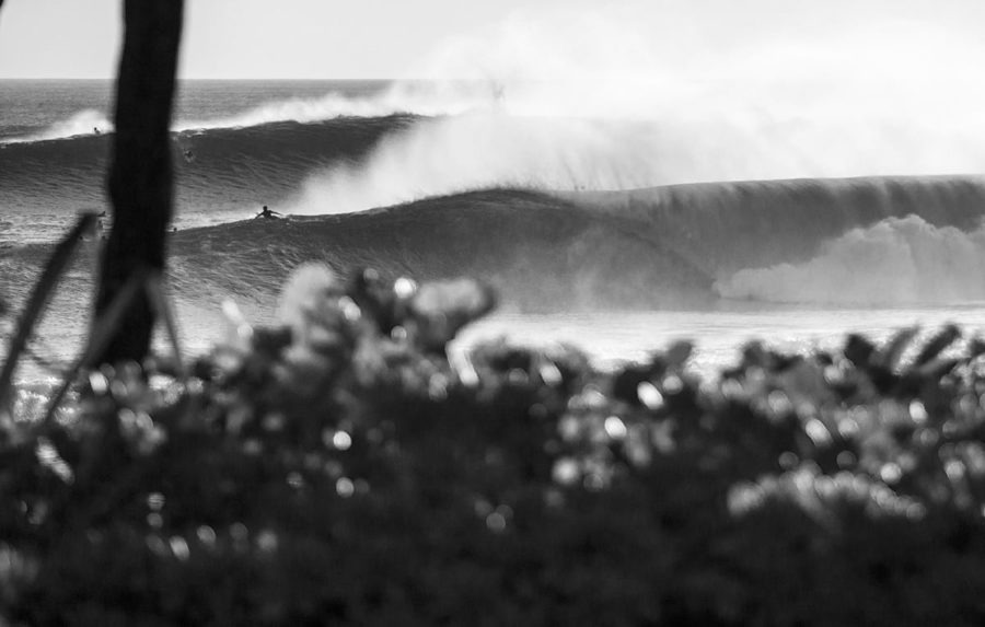 Island Disruption Black and White Surf Photography