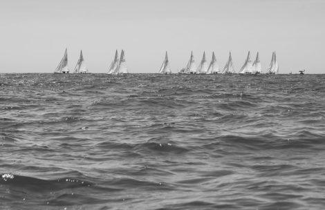Lighting Race Black and White Coastal Photography