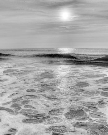 Cosmic Vibrations Black and White Coastal Photography