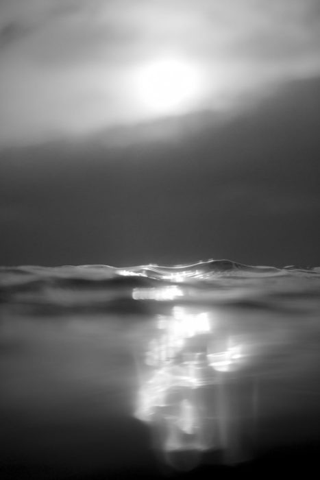 Gleaming Black and White Surf Photography