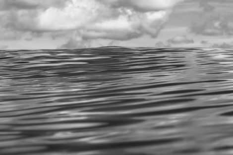 Lines of Peace Black and White Water Photography