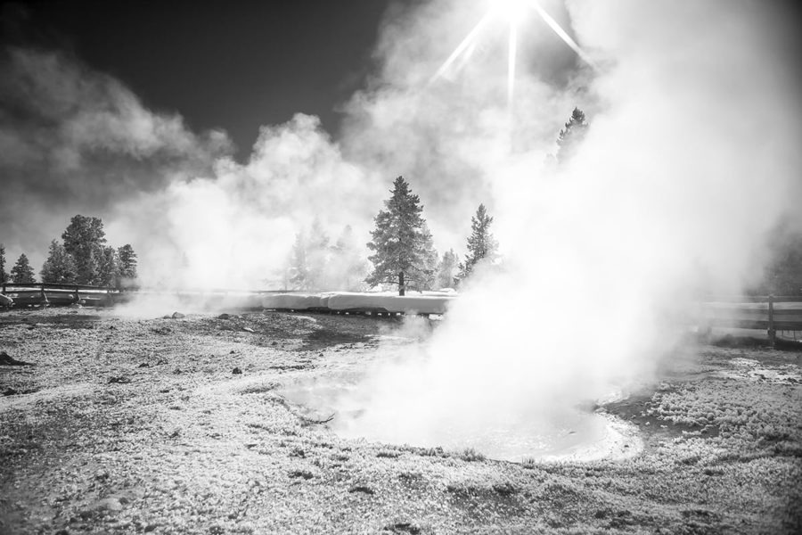 Winters Breath Black and White Photography