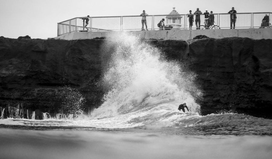 Off the Wall Black and White surf Photography