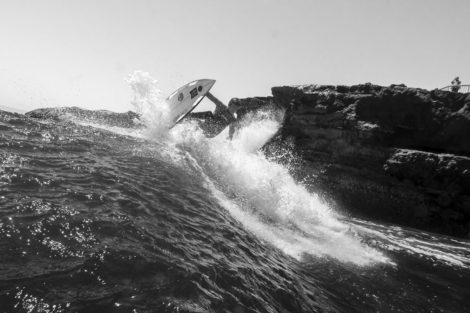 Top to Bottom Black and White Surf Photography